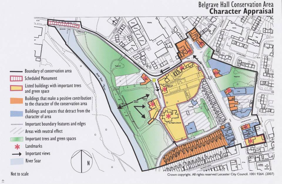 Belgrave Hall Conservation Area Map